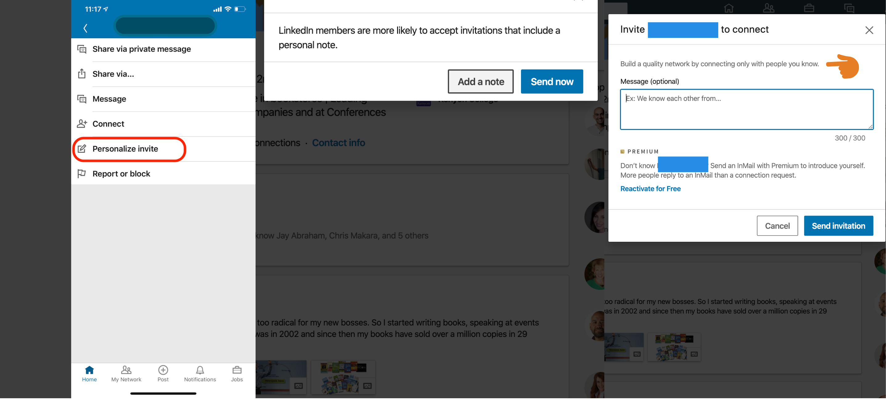 LinkedIn connect